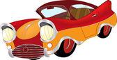 A red toy car cartoon — Stock Vector