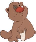 The toy bear cub cartoon — Stock Vector