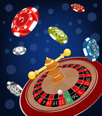 Roulette Wheel cartoon — 图库矢量图片