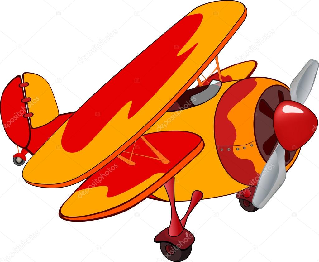 Old Fashioned Airplane Clipart