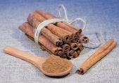 Bunch of cinnamon stick — Stock Photo