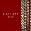 Gold garland on red -New Years Background — Stock Photo #17696709