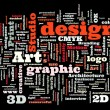 Graphic design studio — Stock Vector
