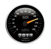 Speedometer with 2013 counter in vector — Stock Vector