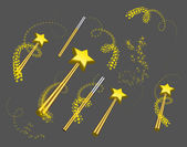 Magic wand vector set — Stock Vector