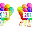 Balloons 2013 — Stock Vector