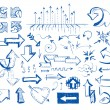 Hand drawn arrows set - Stock Vector
