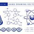 Stock Vector: Chemistry hand drawing