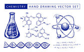 Chemistry hand drawing — Stock Vector