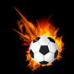 Soccer Ball on Fire — Stock Vector