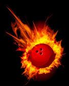 Bowling Fire Ball Vector — Stock Vector