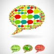 Big speech bubble made from small bubbles — Stock Vector