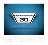 Washing symbol — Stock Vector