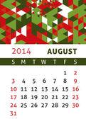 Calendar 2014 — Vector de stock