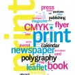 Printing Word Cloud — Stock Vector