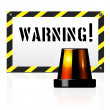 Stock Vector: Warning background