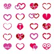 Heart icon set — Stock Vector #38256651