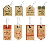 Vintage Style Sale Tags Design — Stock Vector