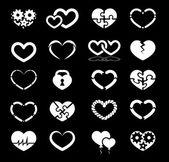 Kalp Icon set — Stok Vektör