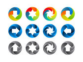 Abstract color icon set — Stock Vector