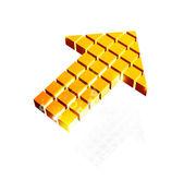 Arrow icon made of orange cubes — Stock Vector