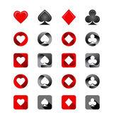 Ilustración vectorial de juegos de naipes — Vector de stock