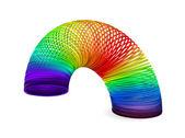 Rainbow spiral spring — Stock Vector
