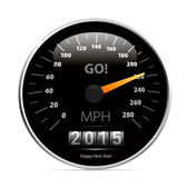 Calendar 2015 in speedometer car. — Stock Vector