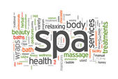 Spa word cloud vector illustration — Stock Vector