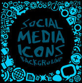 Social media icon background — Stock Vector