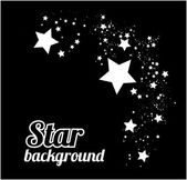 Star background vector illustration on black — Stock Vector