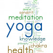 YOGA. Word collage on white background. — Vector de stock  #47011639
