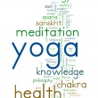 YOGA. Word collage on white background. — Stock Vector