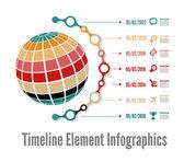 Timeline infographic — Wektor stockowy