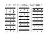Set of musical symbols — Stock Vector