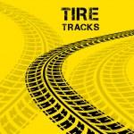 Tire tracks — Stock Vector #48477223