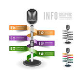 Standing microphone — Stock Vector