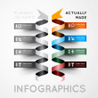 Infographic options with color ribbons — Stock Vector #49757705