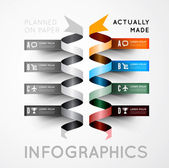 Infographic options with color ribbons — Stockvektor