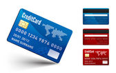 Realistic vector Credit Card two sides — Stock vektor
