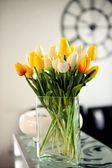 Photo of bouquet spring tulips — Stock Photo