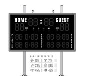 American football scoreboard with infographics — Stock Vector