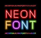 Neon Font — Stock Vector