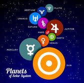 Planet of Solar System — Stock Vector