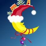 Christmas & New-Year's moon — Stock Vector #1061779