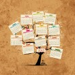 Calendar tree 2013 for your design — Stockvectorbeeld