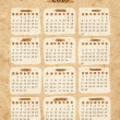 Calendar 2013 hand sketch on grunge old paper — Stock Vector