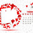 Vector calendar 2013, february. Frame with place for your text or photo — Stock Vector