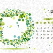 Vector calendar 2013, march. Frame with place for your text or photo — Stock Vector