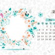 Stock Vector: Vector calendar 2013, may. Frame with place for your text or photo